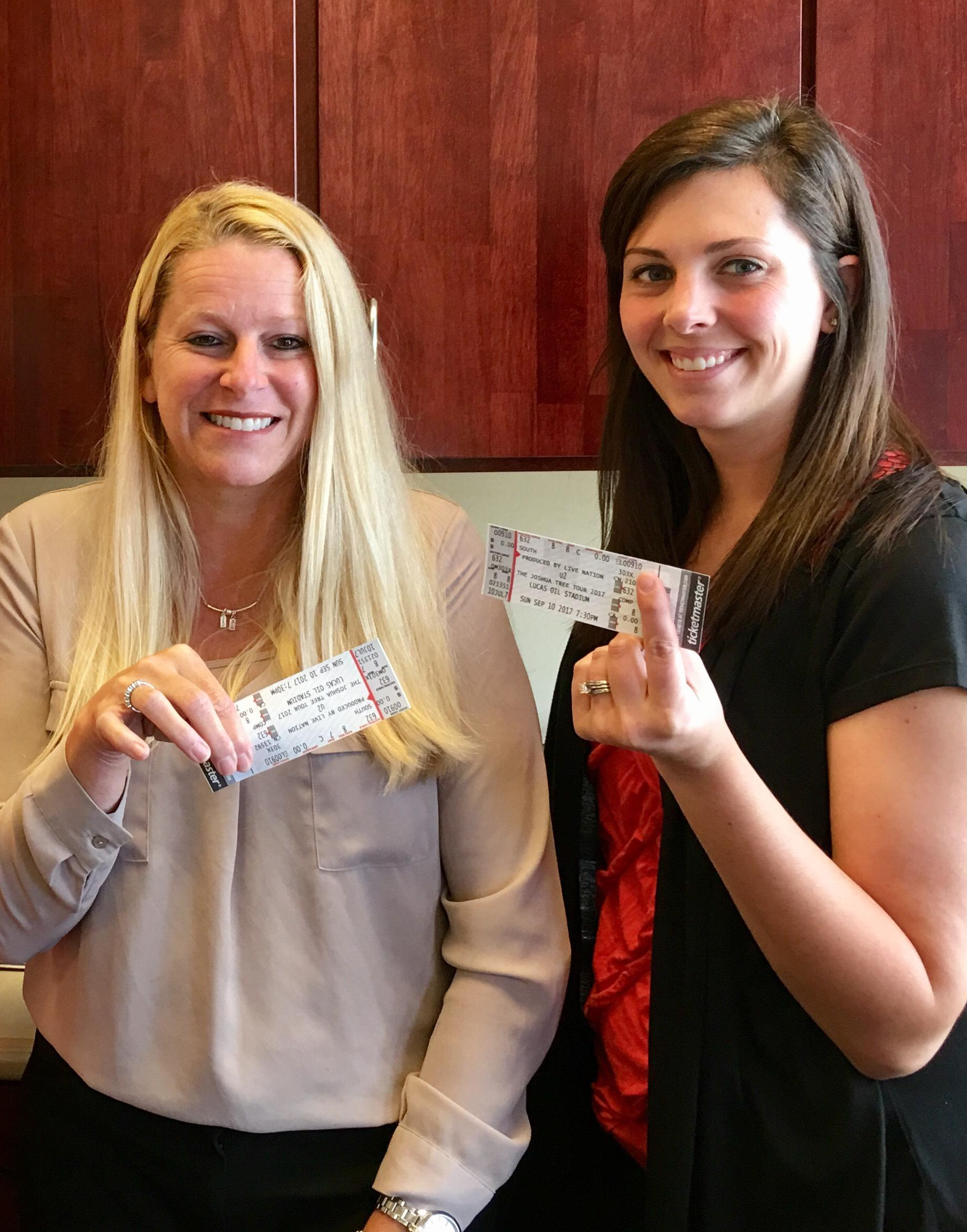 U2 tickets for contest winners