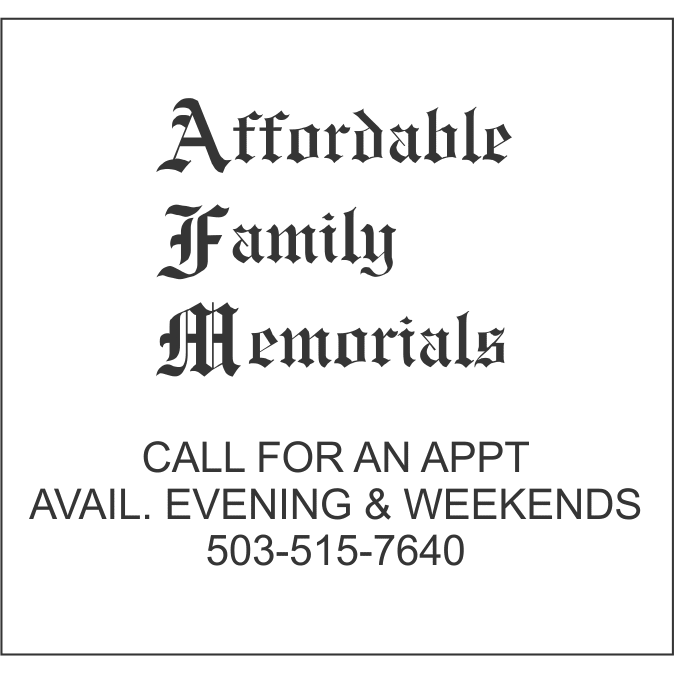 Affordable Family Memorials