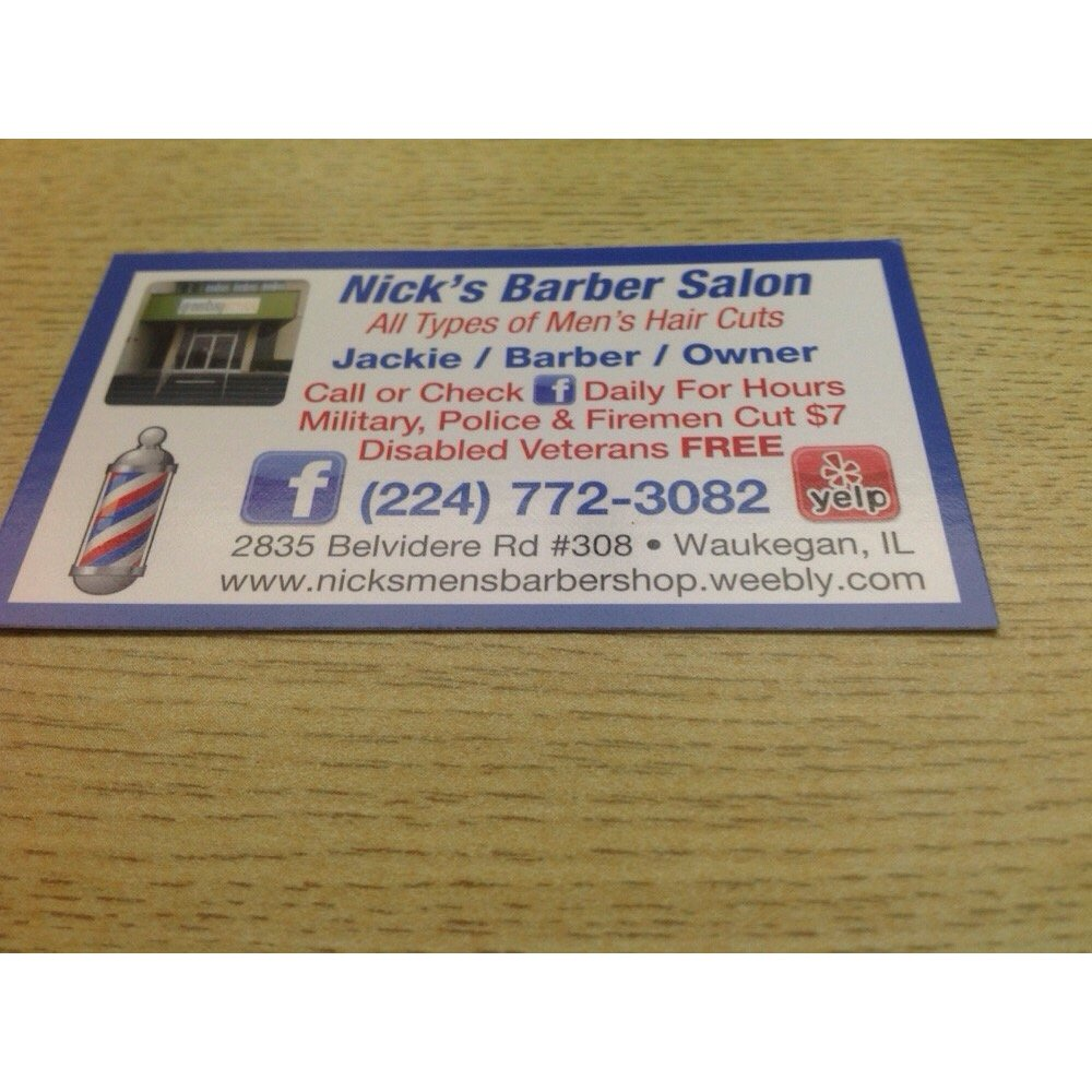 Nick 39 s barber salon 2835 belvidere rd suite 308 waukegan for Nick s hair salon