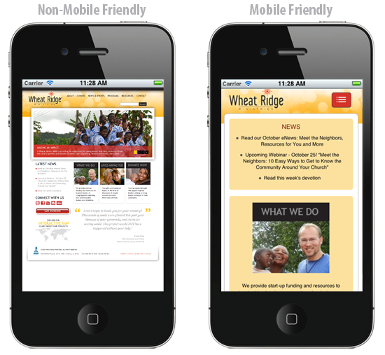 How does your website look on a mobile device?  If it isn't truly mobile ready, you're losing business.  Call us!