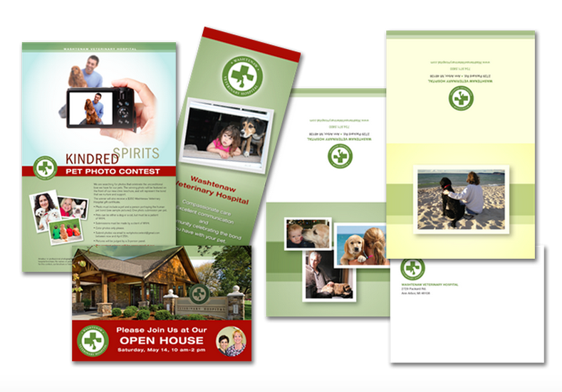 Allegra Printing in Abbotsford: Poster, invitation, trifold brochure and postcard promoting an open house.