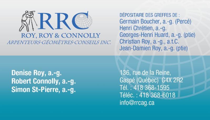 Roy Roy & Connolly à Gaspé
