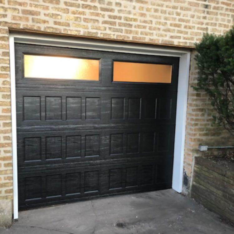 A New 8 X 7 Black Designers Choice Door From Amarr We Installed Today