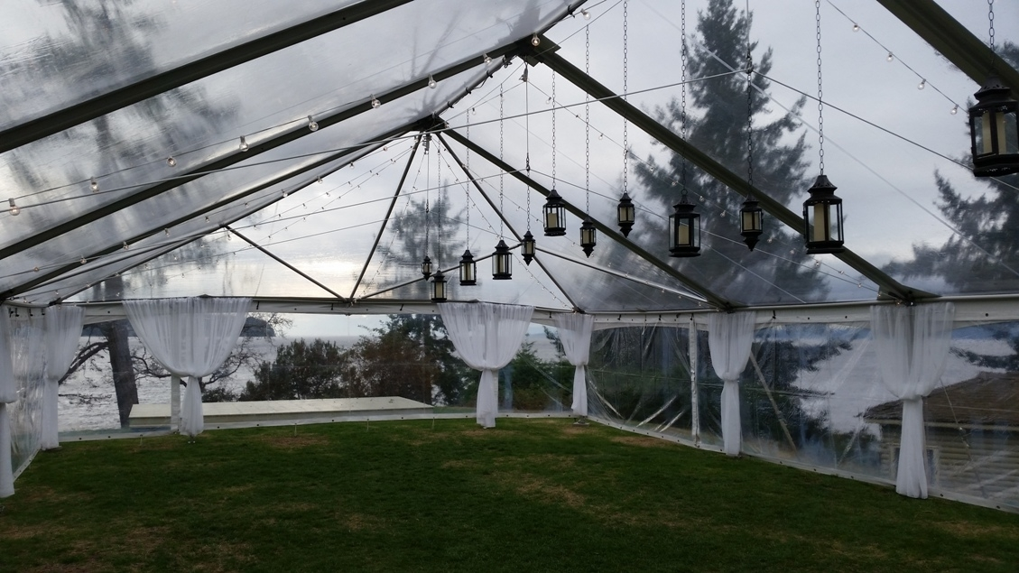 Gibsons Party Rentals in Gibsons: Our 30' x 70' clear top tent. Just one example