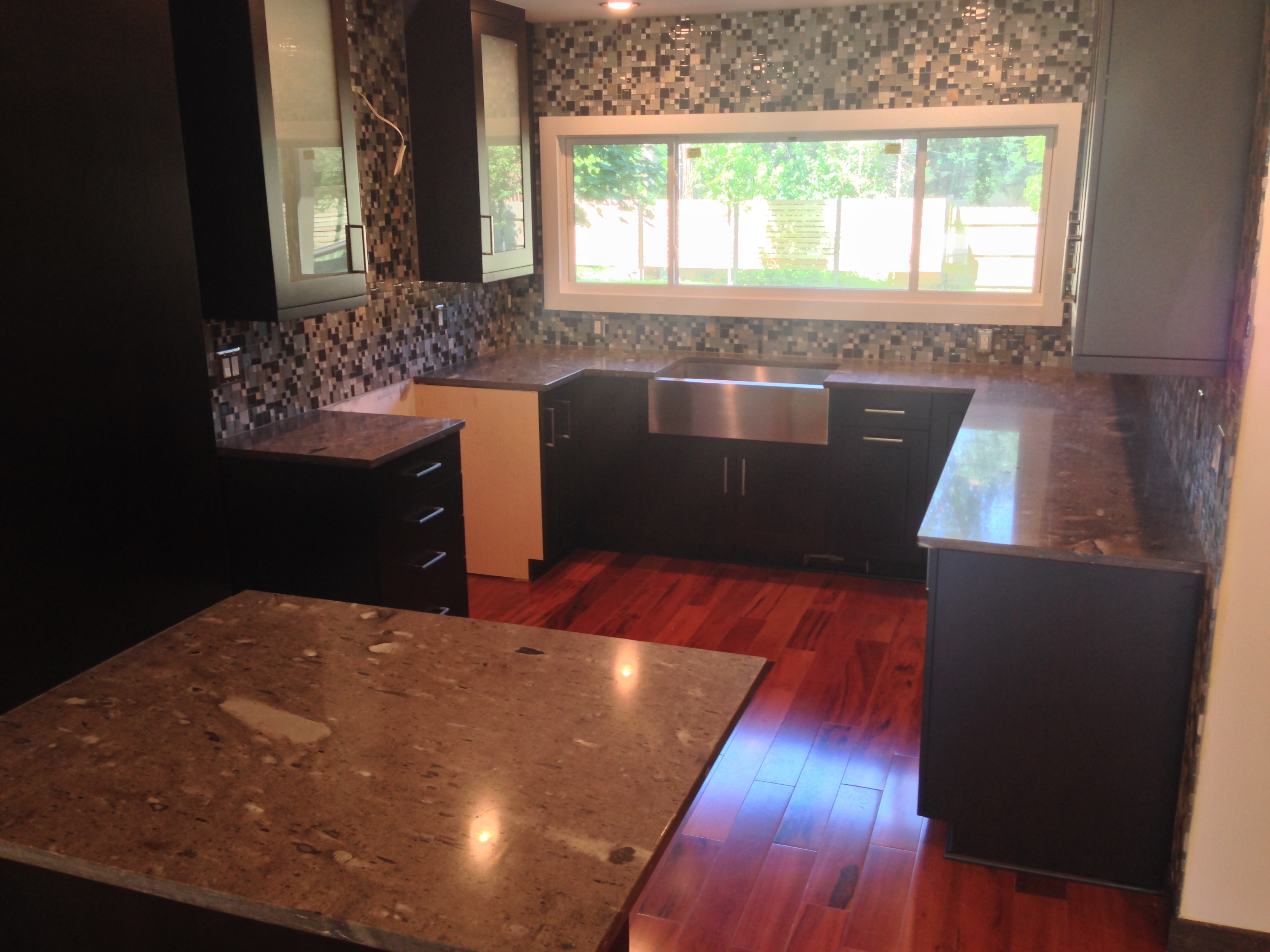 Cygnus Exotic Kitchen Granite Countertops With Straight Edge In Detroit, MI.