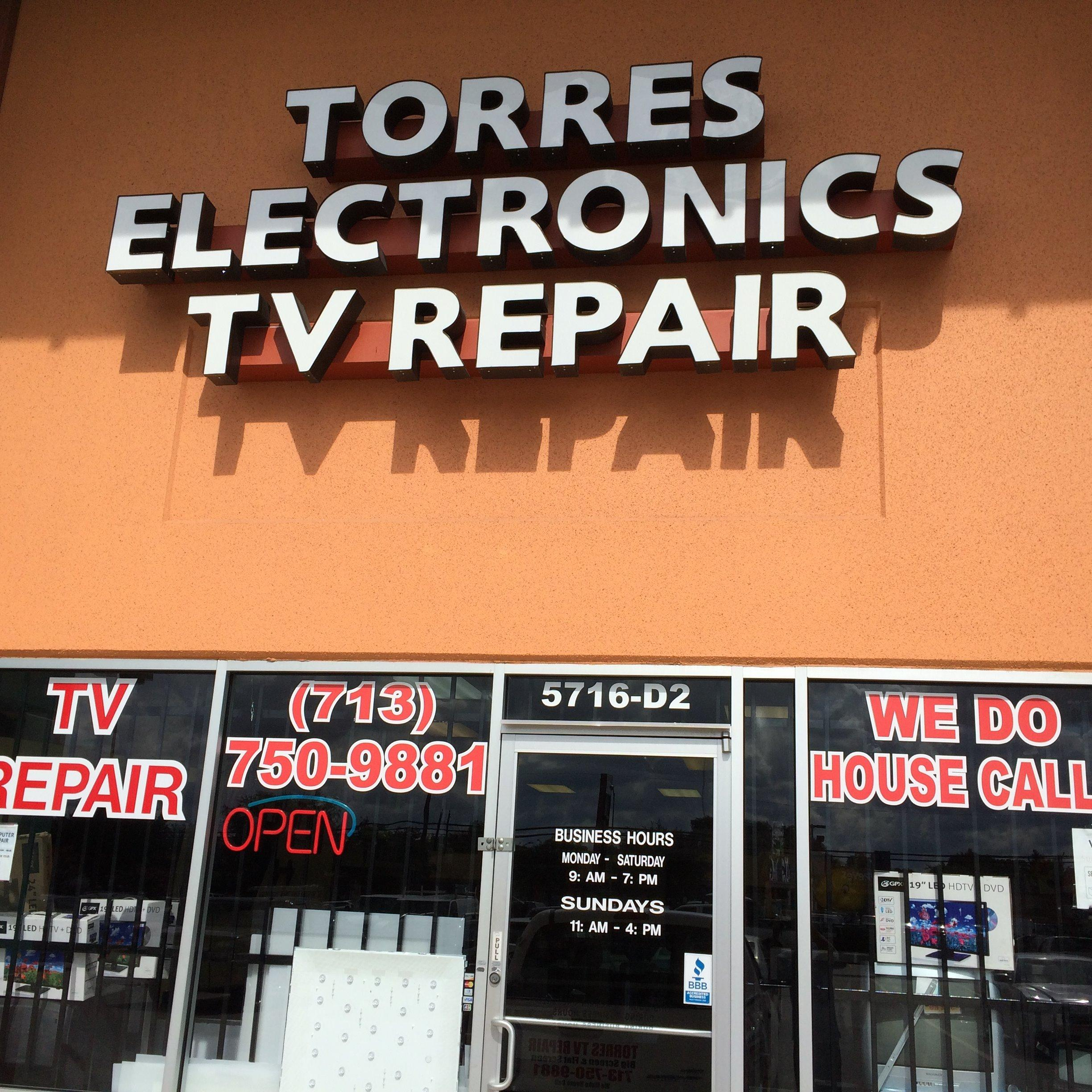 TORRES ELECTRONICS TV REPAIR AND PARTS