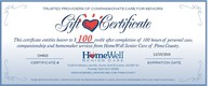 Call today to start using your gift certificate. Cannot be combined with any other discounts.