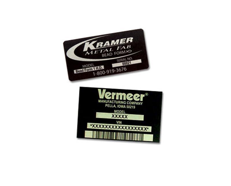 Metalphoto engraved equipment tags