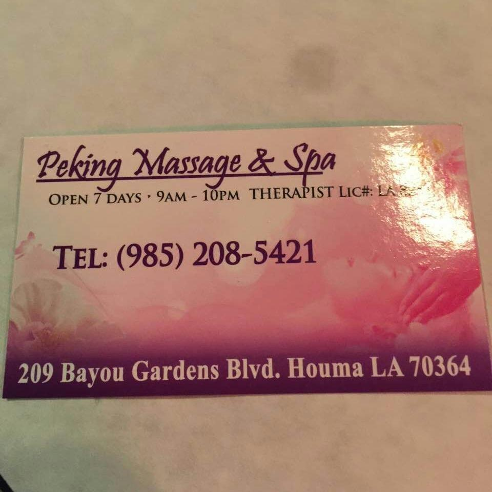 Peking Massage & Spa - Houma, LA 70364 - (985)208-5421 | ShowMeLocal.com