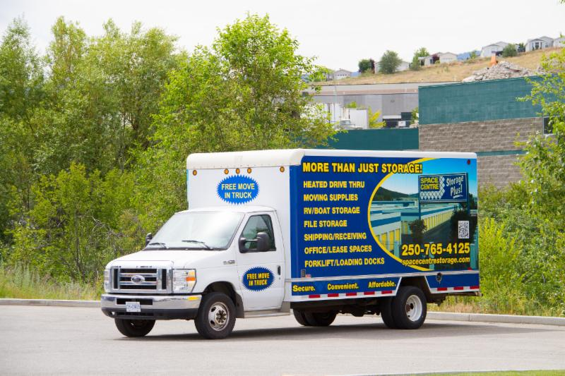 Space Centre Self Storage in Kelowna: Free Move-In Truck