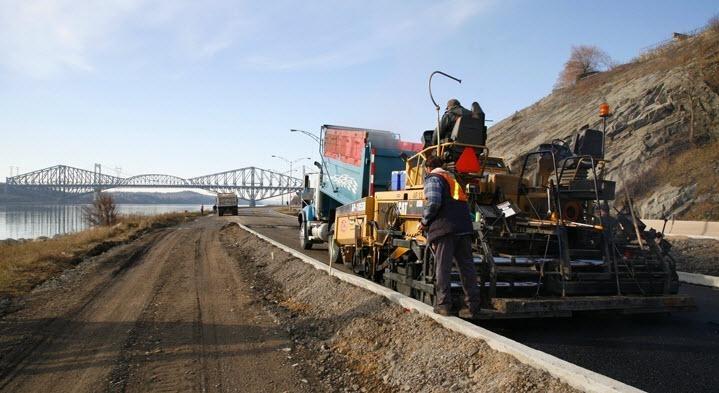 Béton Provincial Ltée à Rimouski: Pavage du Boulevard Champlain
