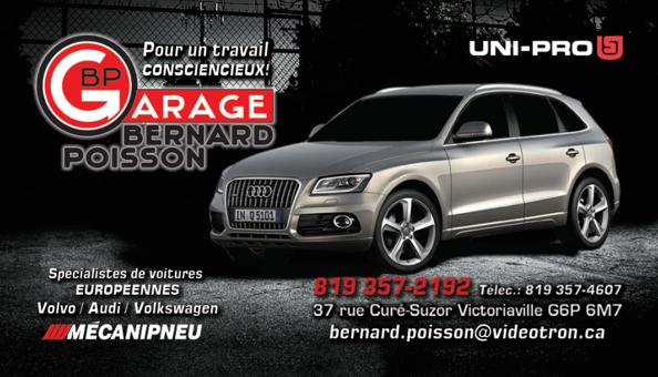 Garage Bernard Poisson - UNIPRO à Victoriaville