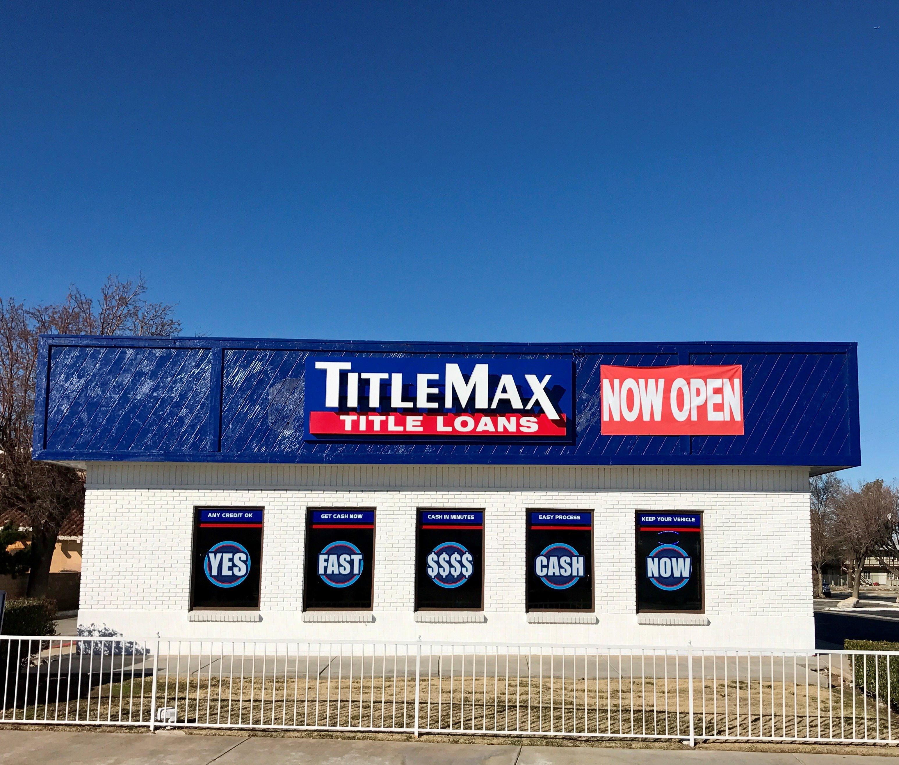 TITLEMAX TITLE LOANS In Palmdale, CA