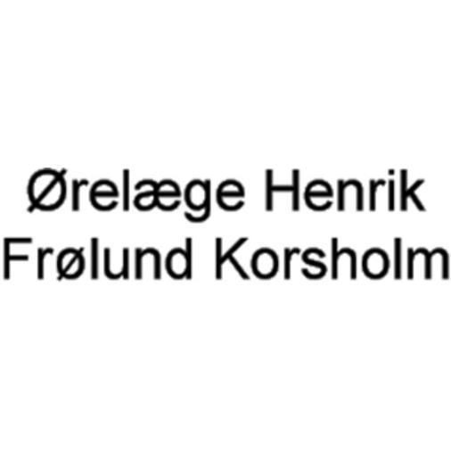 Ørelæge Henrik Frølund Korsholm logo