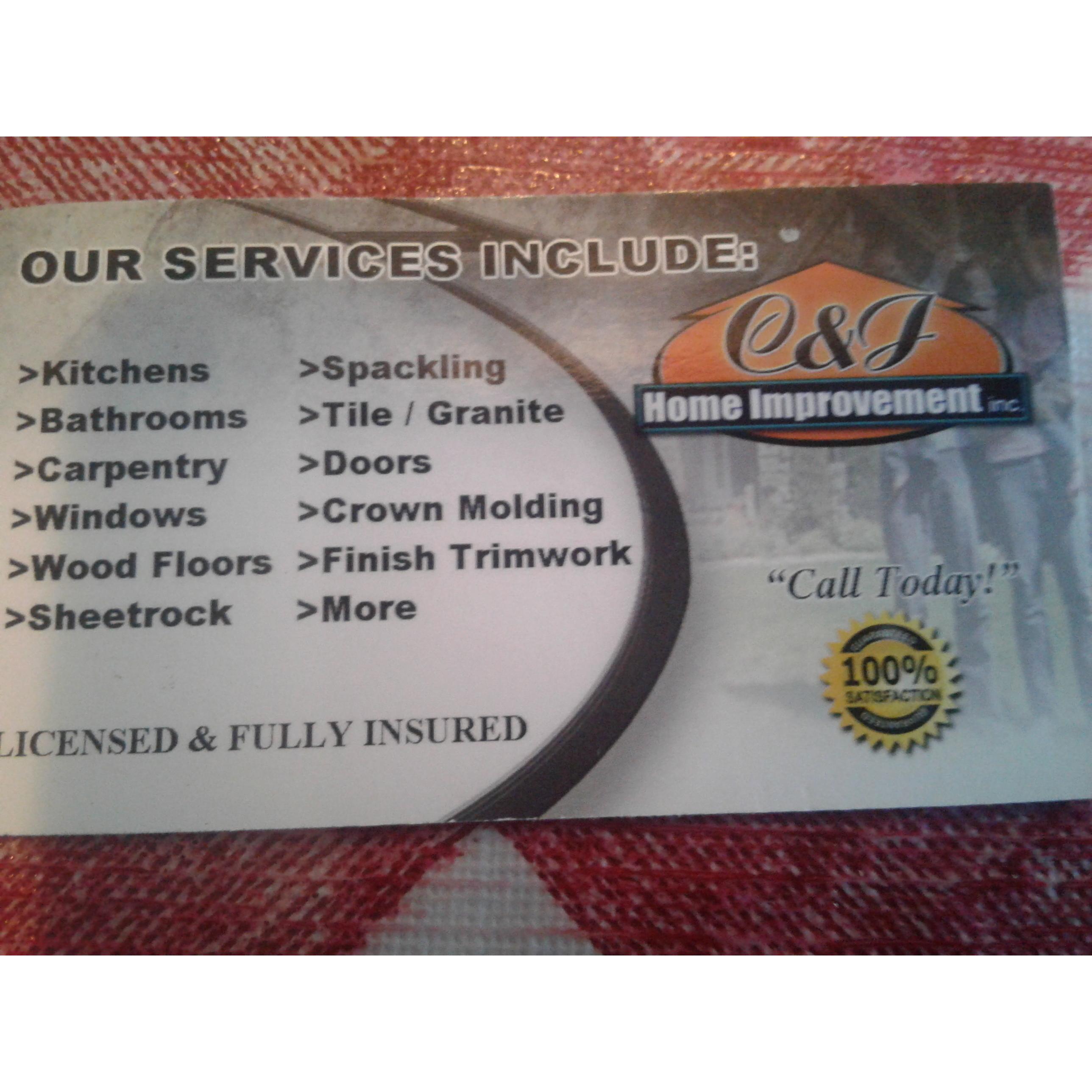 C and J Home Improvement Inc