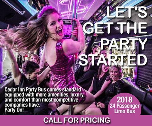 Cedar Inn Party Bus
