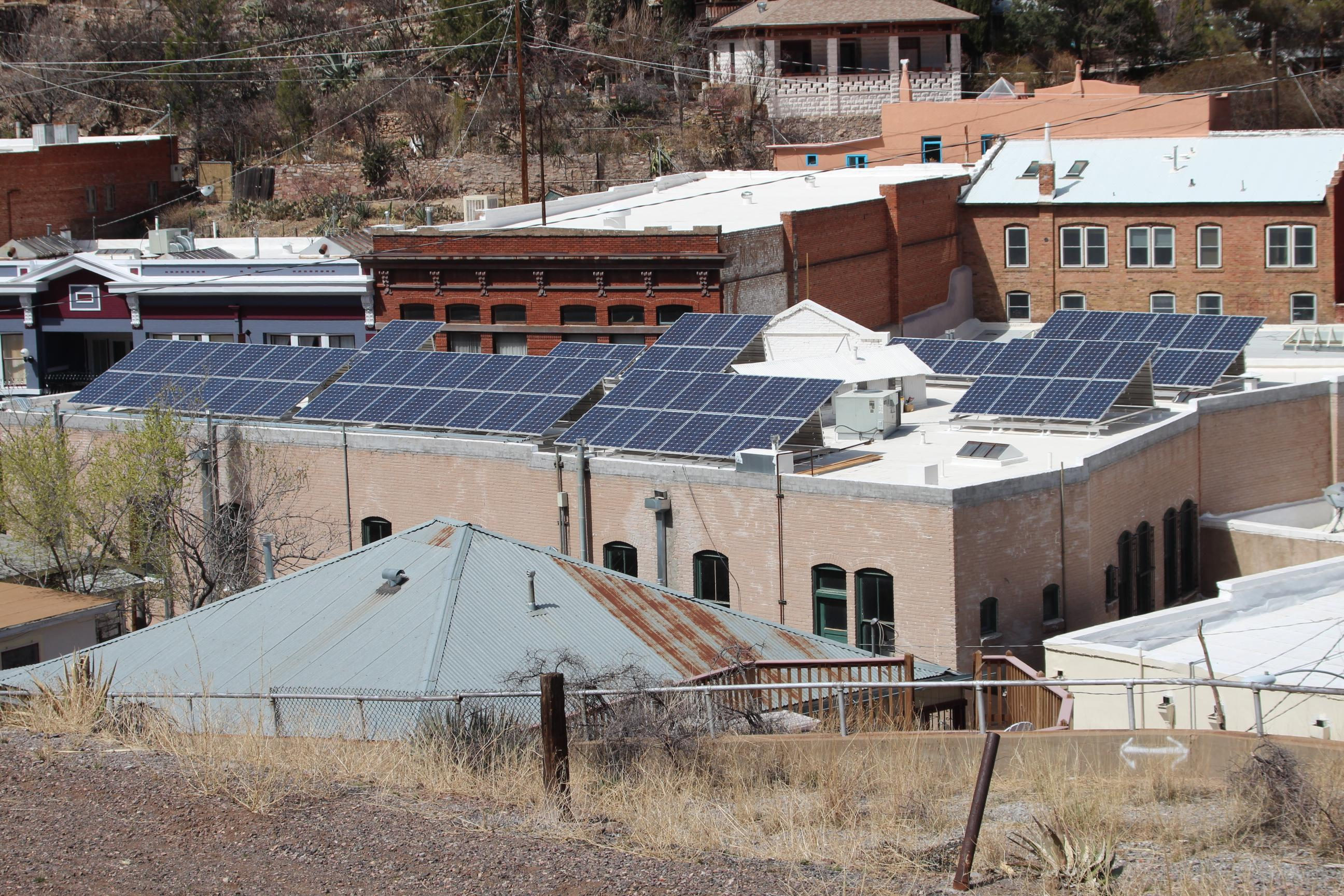 25kW Historic Commercial Center.  USDA REAP Grant funded project - Bisbee, AZ