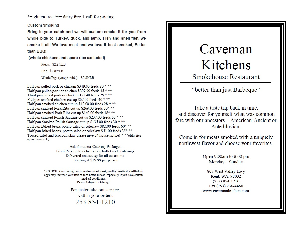 Cave Man Kitchen 807 West Valley Highway Kent, WA Restaurants - MapQuest