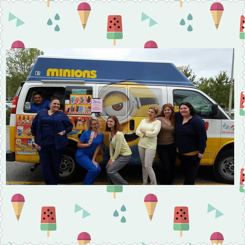 THANK YOU Dr. Bivins and the Bivins Orthodontic Crew for sending this cool Minion Ice Cream truck TO Cedar Road AND letting us pick ANYTHING we want!! We appreciate all of you!!