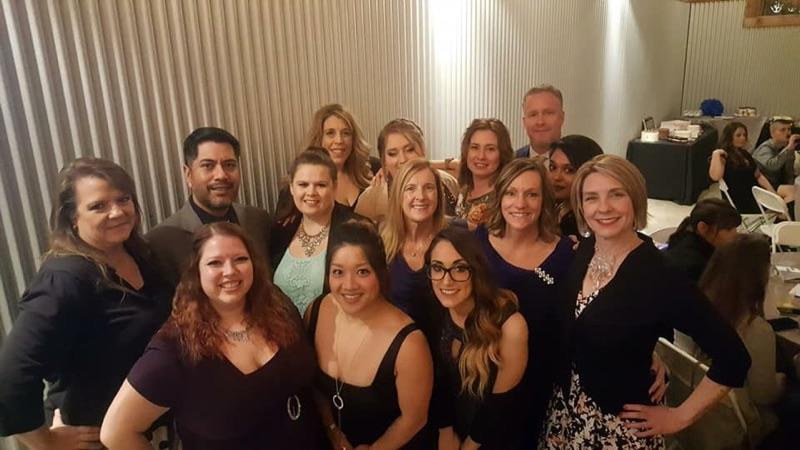 Some of my awesome team enjoying our nomination at The Best of Nisqually Gala