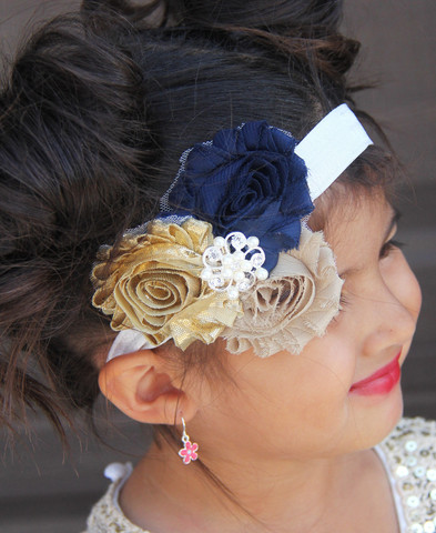 Gorgeous and trendy hair bows, shabby flower headbands, and knotted headbands. The