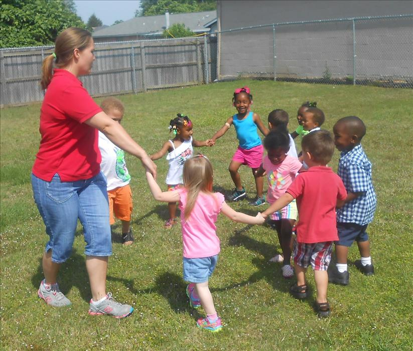 This is What Learning Looks Like: Growing healthy bodies through group play as we play cooperatively with others.
