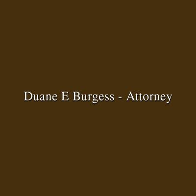 Burgess Duane E-Attorney