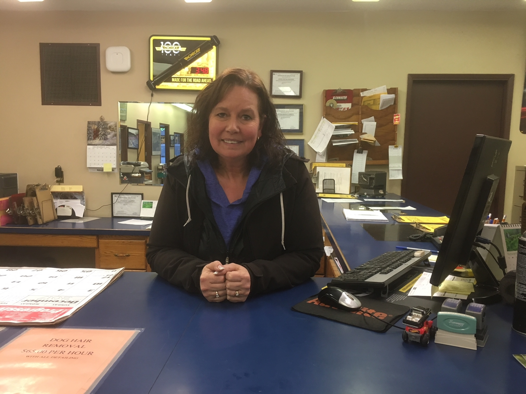 Lake City Auto Care Mall in Williams Lake: Lake City Auto Repair, Tina at Front Counter