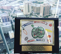 """1st place in the """"Foodraiser"""" category! Very proud of our firm's efforts throughout the month of April to raise money & collect food for the @houstonfoodbank ... Our firm was able to collect & donate over 3,300 pounds of food to the HFB, which in part helped us create 7,729 meals for those in need in the Greater Houston community. It's such a privilege to participate in the """"Food from the Bar"""" program every year & we can't wait for next year! Thank you to Kirkland & Ellis for hosting the awards again this year! #GiveBack #AmaroLawFirm #ExpectMore"""