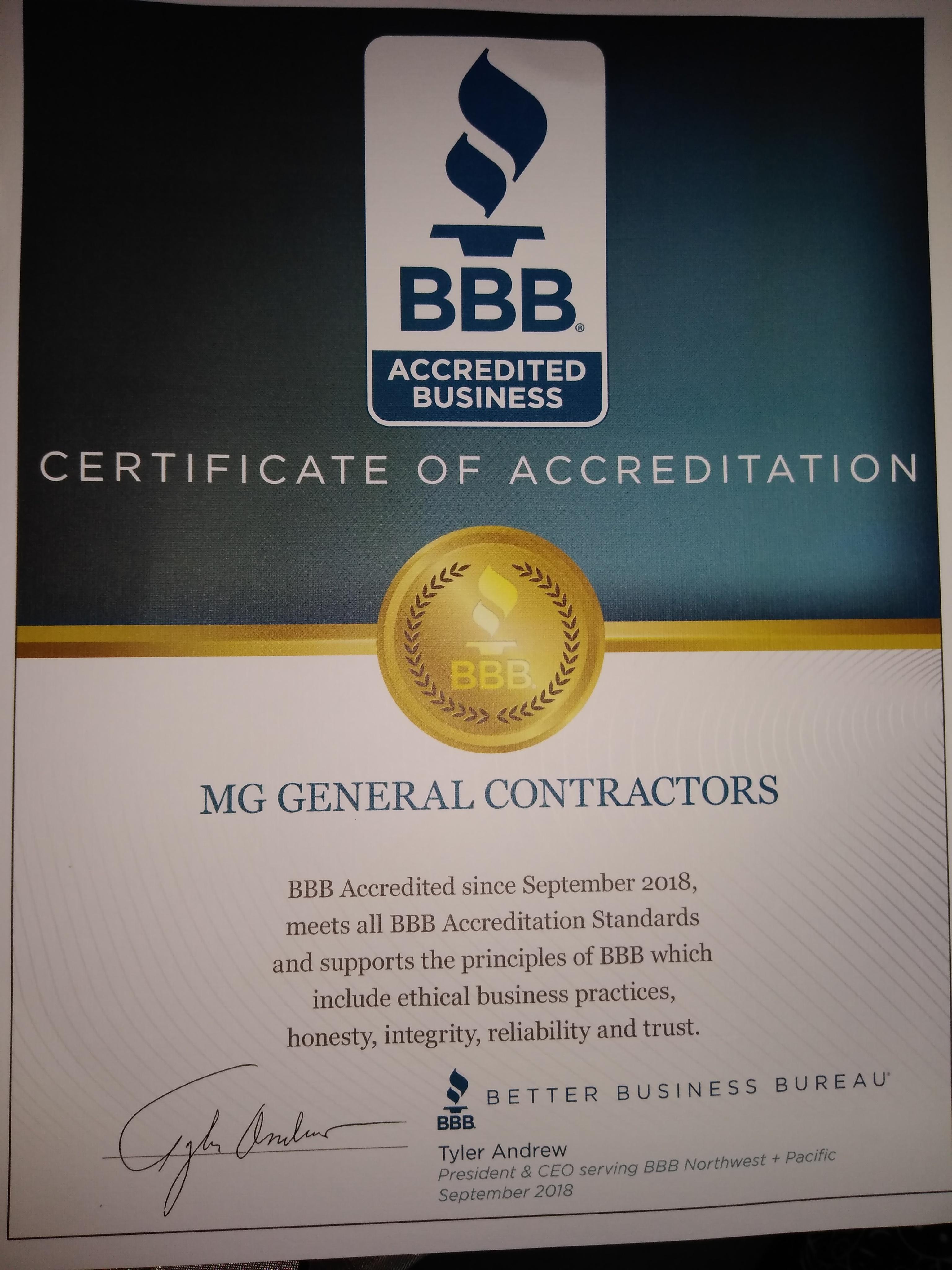 MG General Contractors image 0