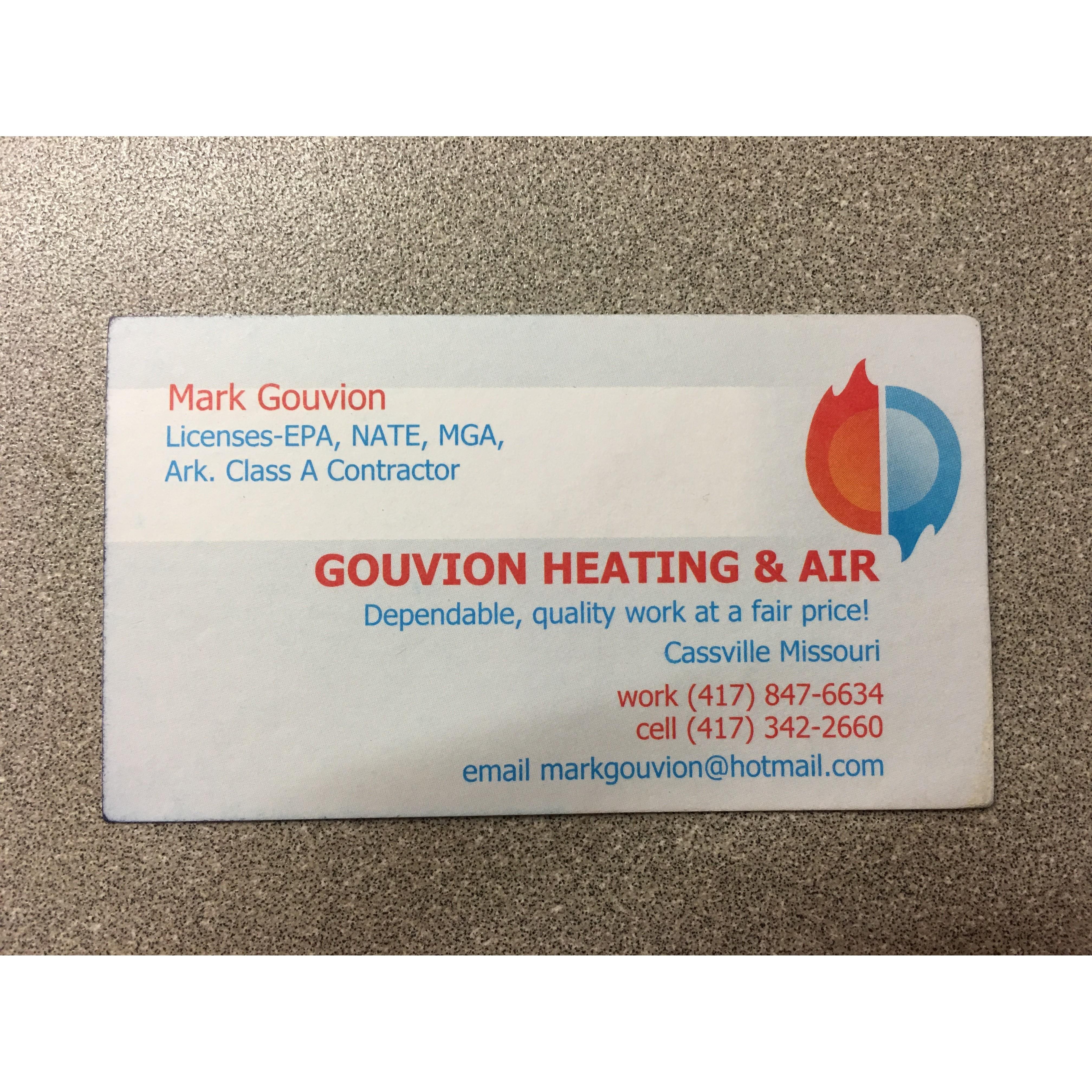 Gouvion Heating  and  Air