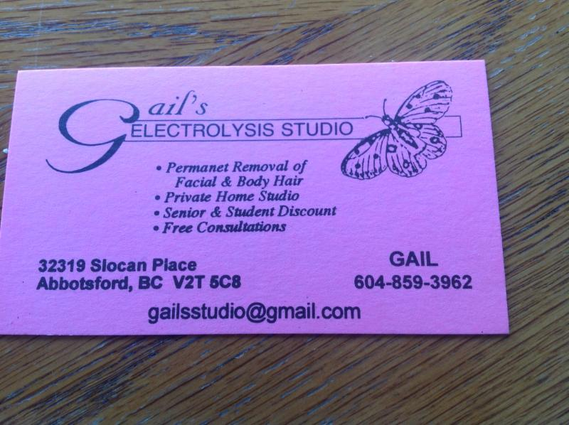 Gail's Electrolysis Studio in Abbotsford