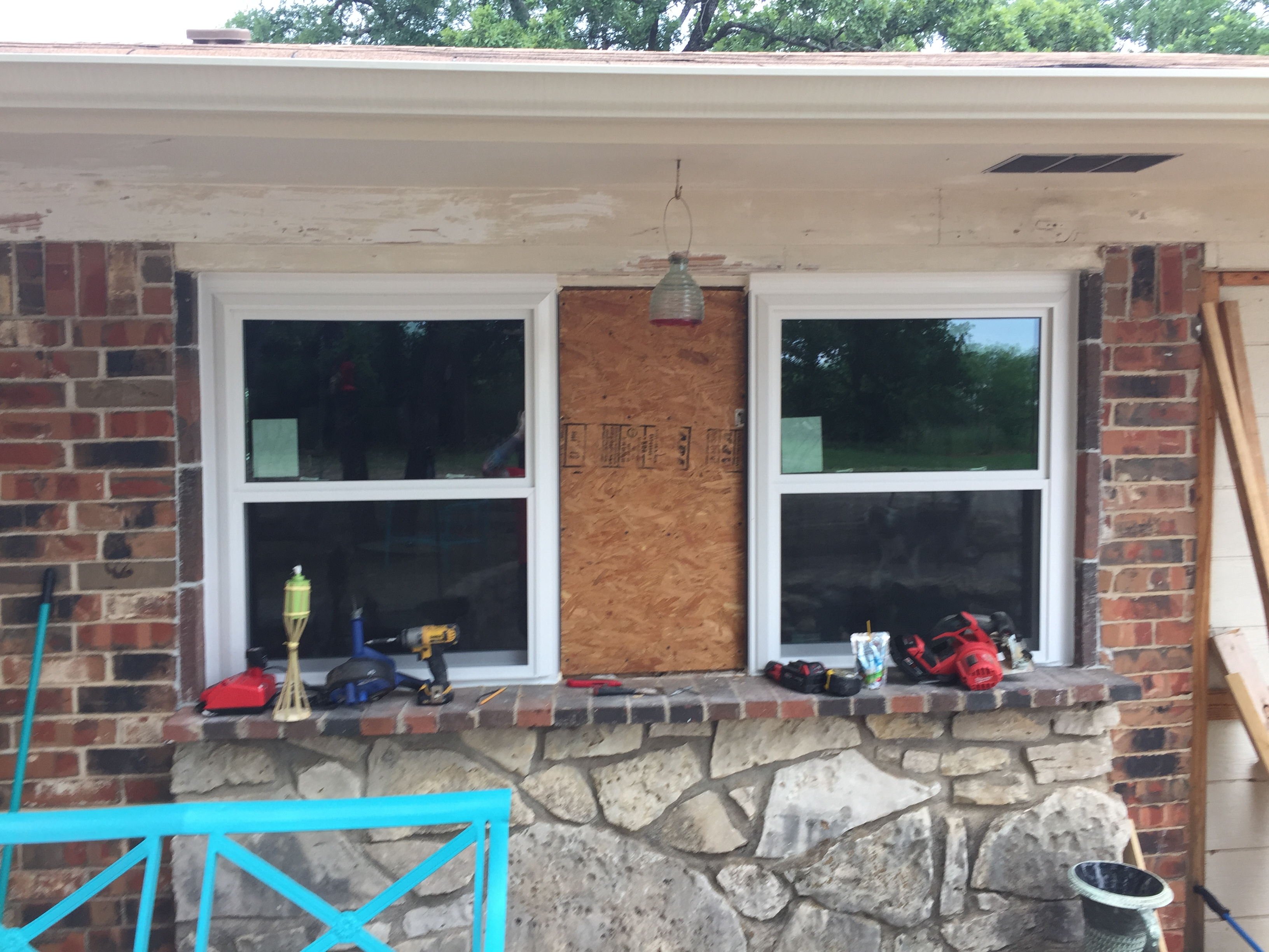 New windows on a remodel in progress