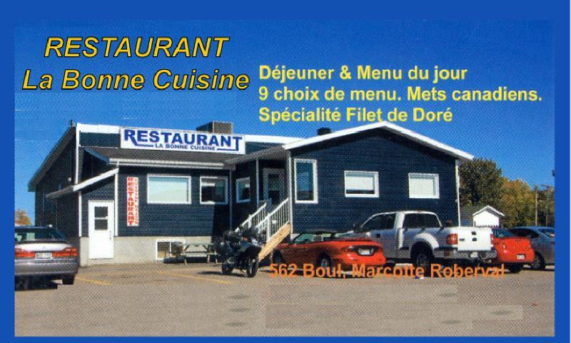 Restaurant La Bonne Cuisine à Roberval
