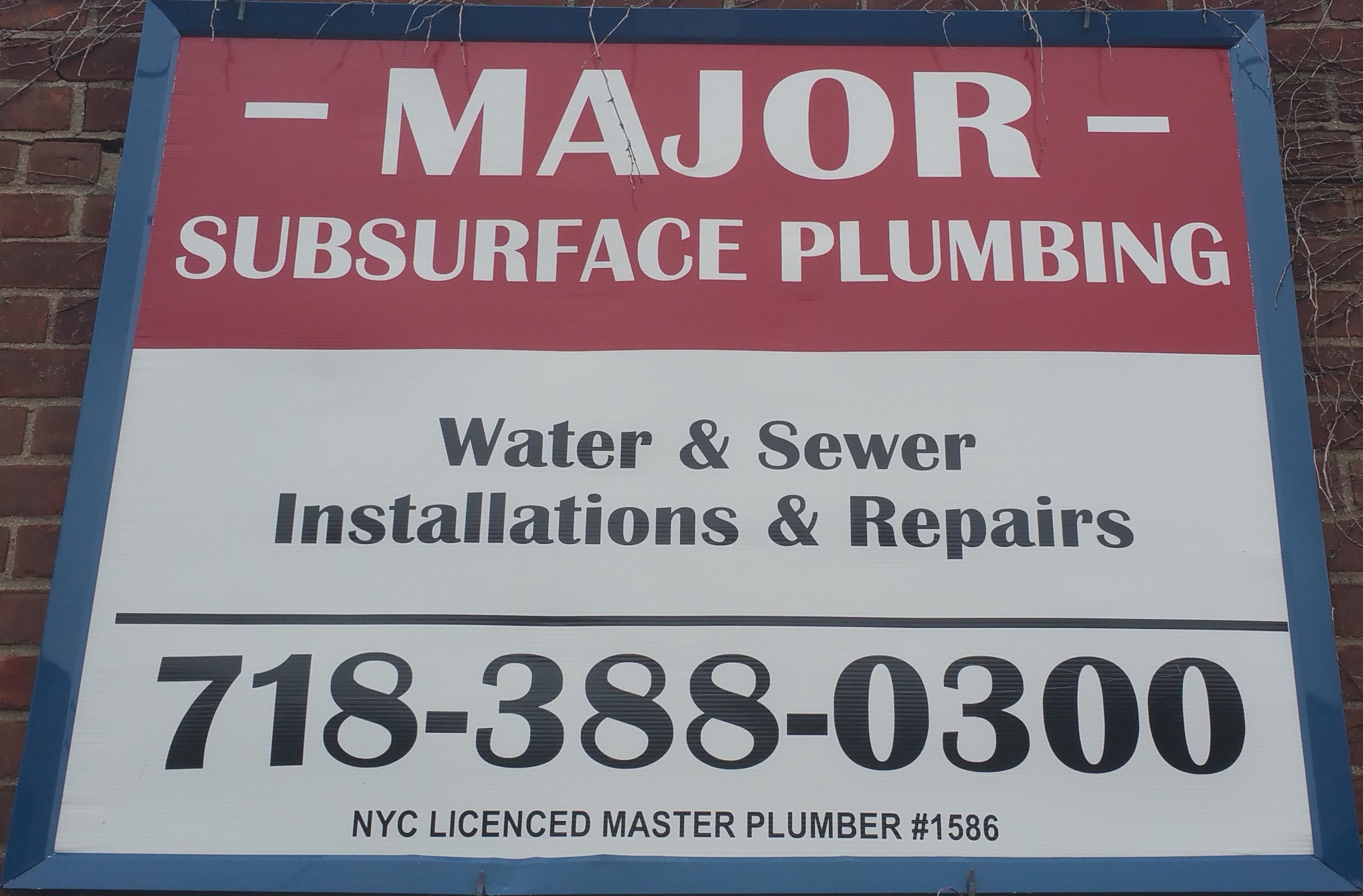 Major Subsurface Plumbing Corp.