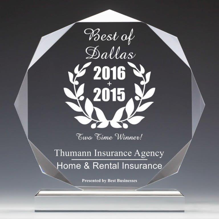 Voted Best Independent Insurance Agency in Dallas, Tx for Home & Rental Insurance. 2015 & 2016