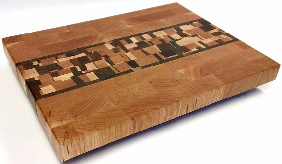 Cherry butcher block with confetti accent.