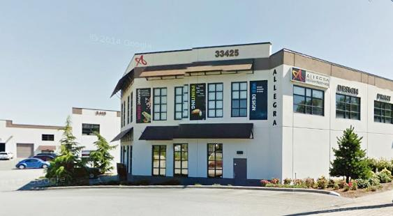 Allegra Printing in Abbotsford: Our office is located on Maclure Road.