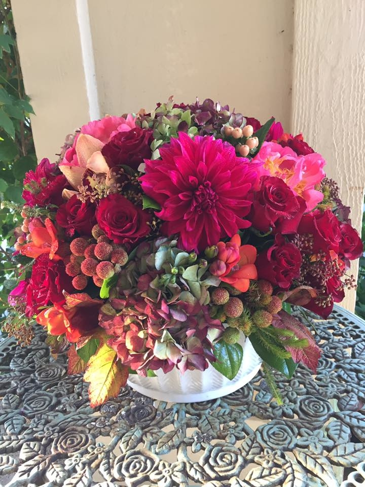 Florentyna's A Fine Flower Company- Colorful Roses Arrangement