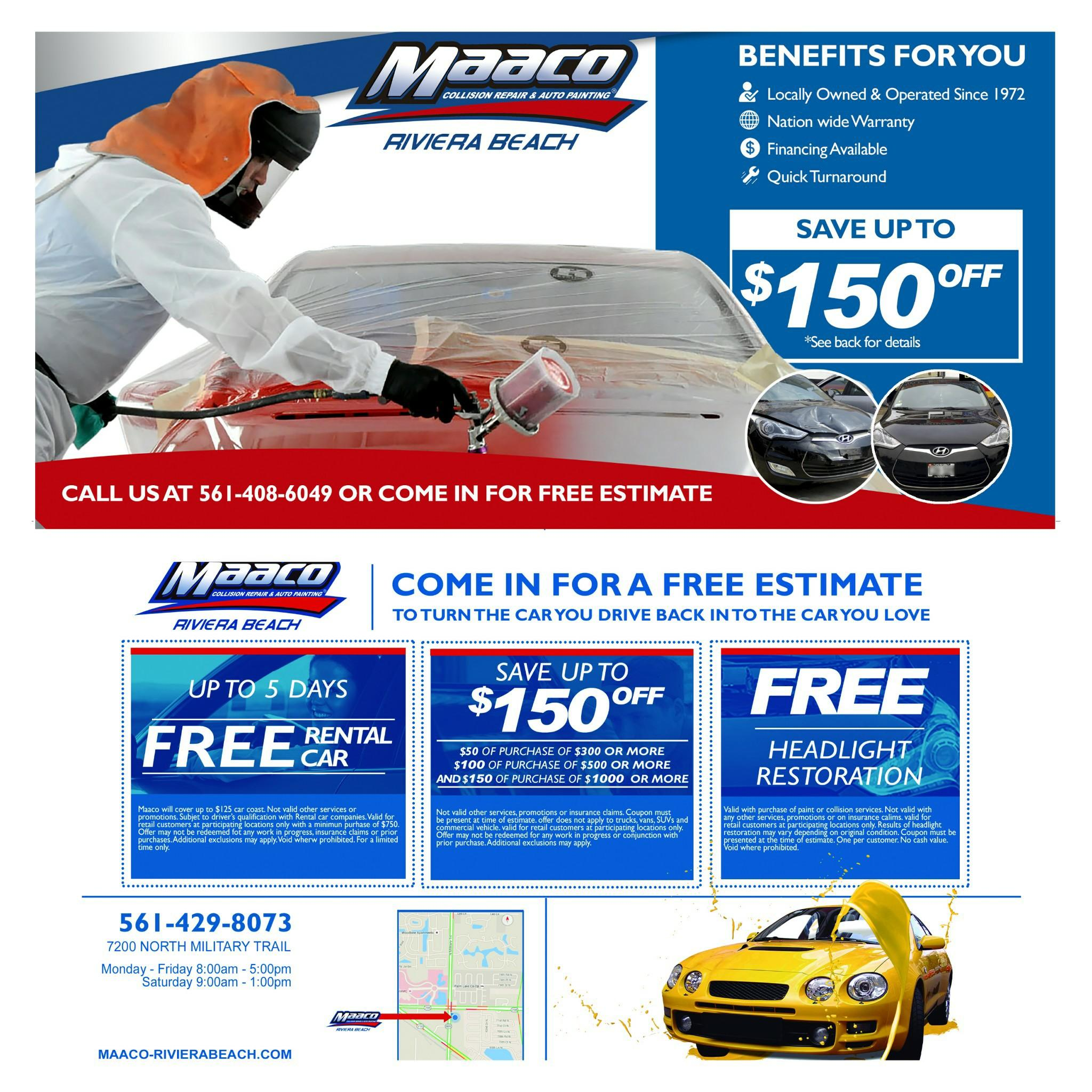 Maaco Collision Repair & Auto Painting Coupons Near Me In