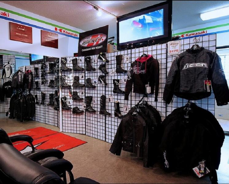 Burnaby Kawasaki in Burnaby: Accessories Department Showroom