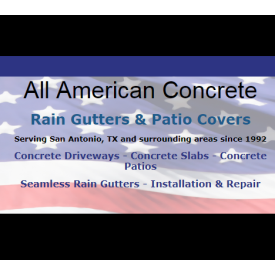 All American Concrete Rain Gutters And Patios
