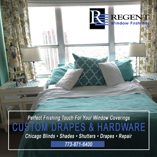 Drapes Chicago by Regent Window Fashions.