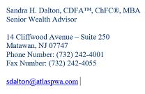 Sandra H. Dalton, CDFA™, CHFC, MBA image 1