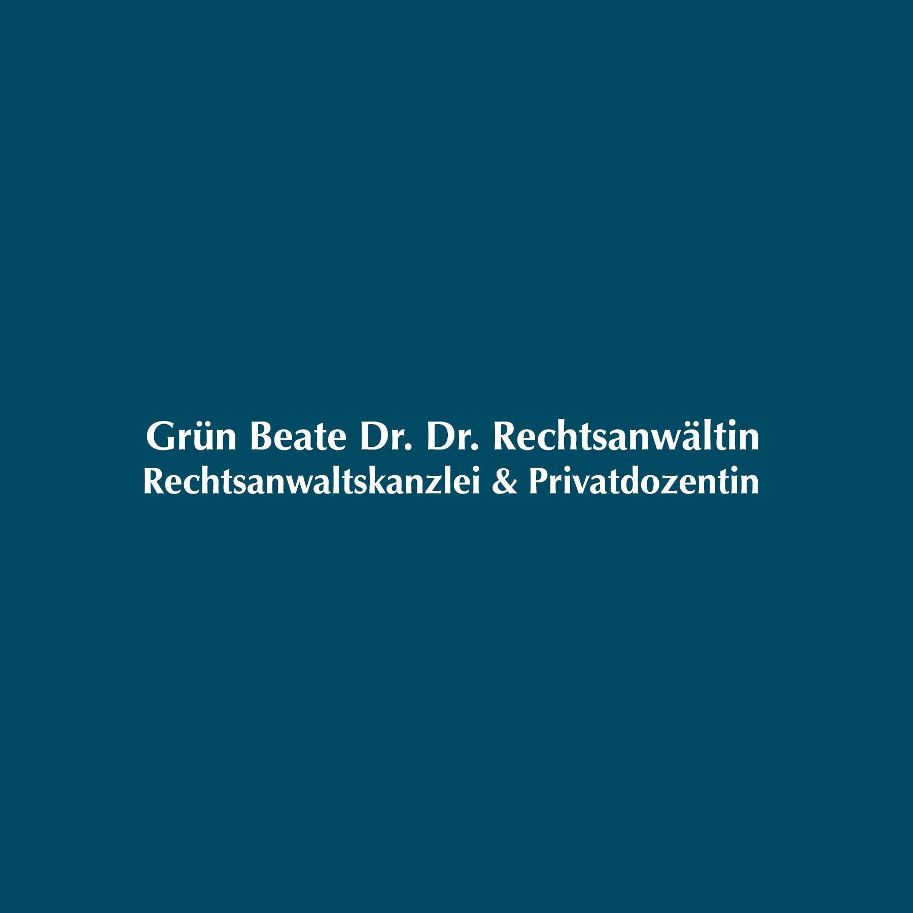 Rechtsanwältin Dr. Dr. Beate Grün