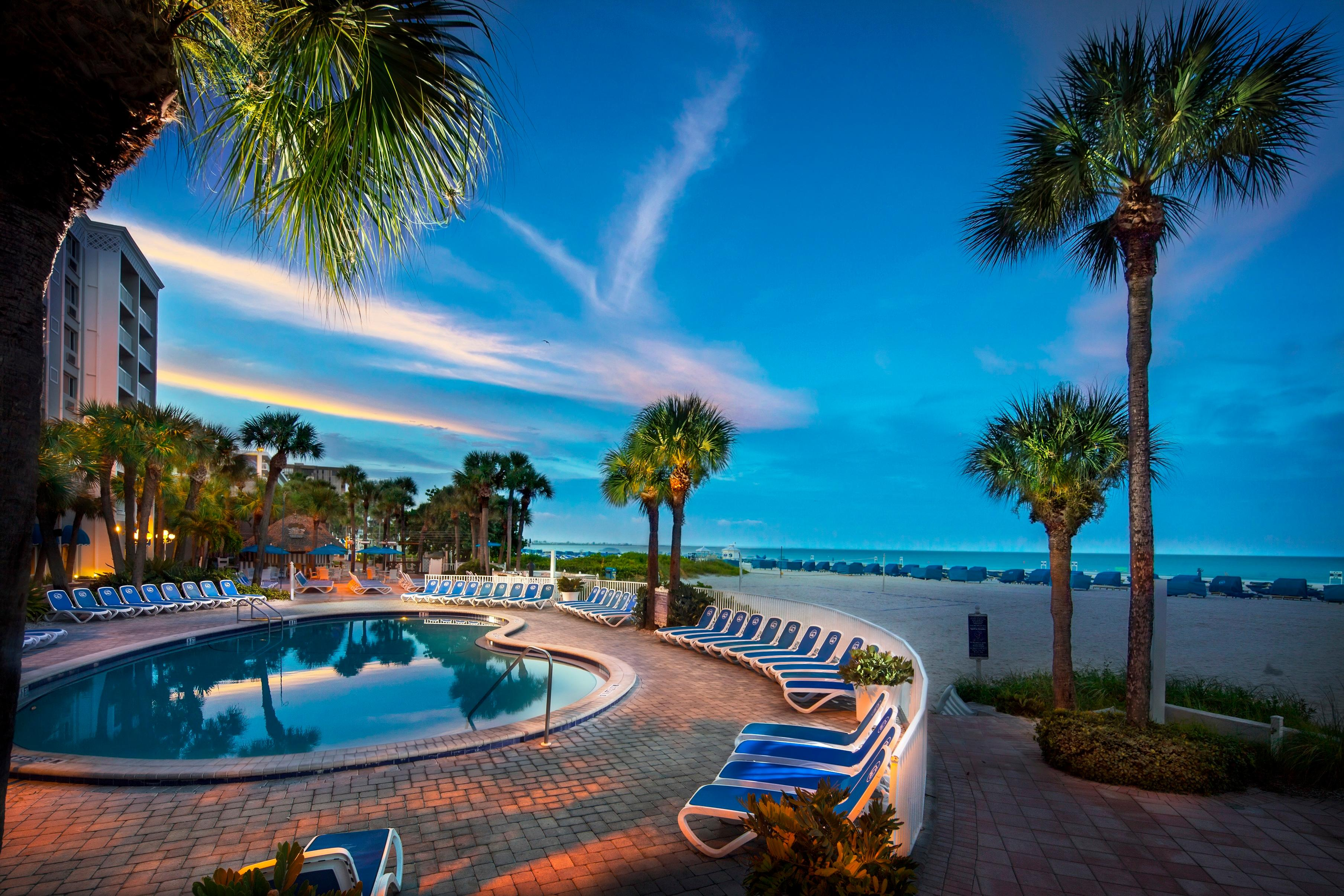 TradeWinds Island Grand spans 20 acres and is directly on St. Pete Beach.