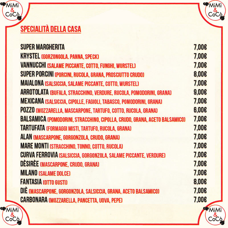 Mimì e Cocò Trattoria Pizzeria