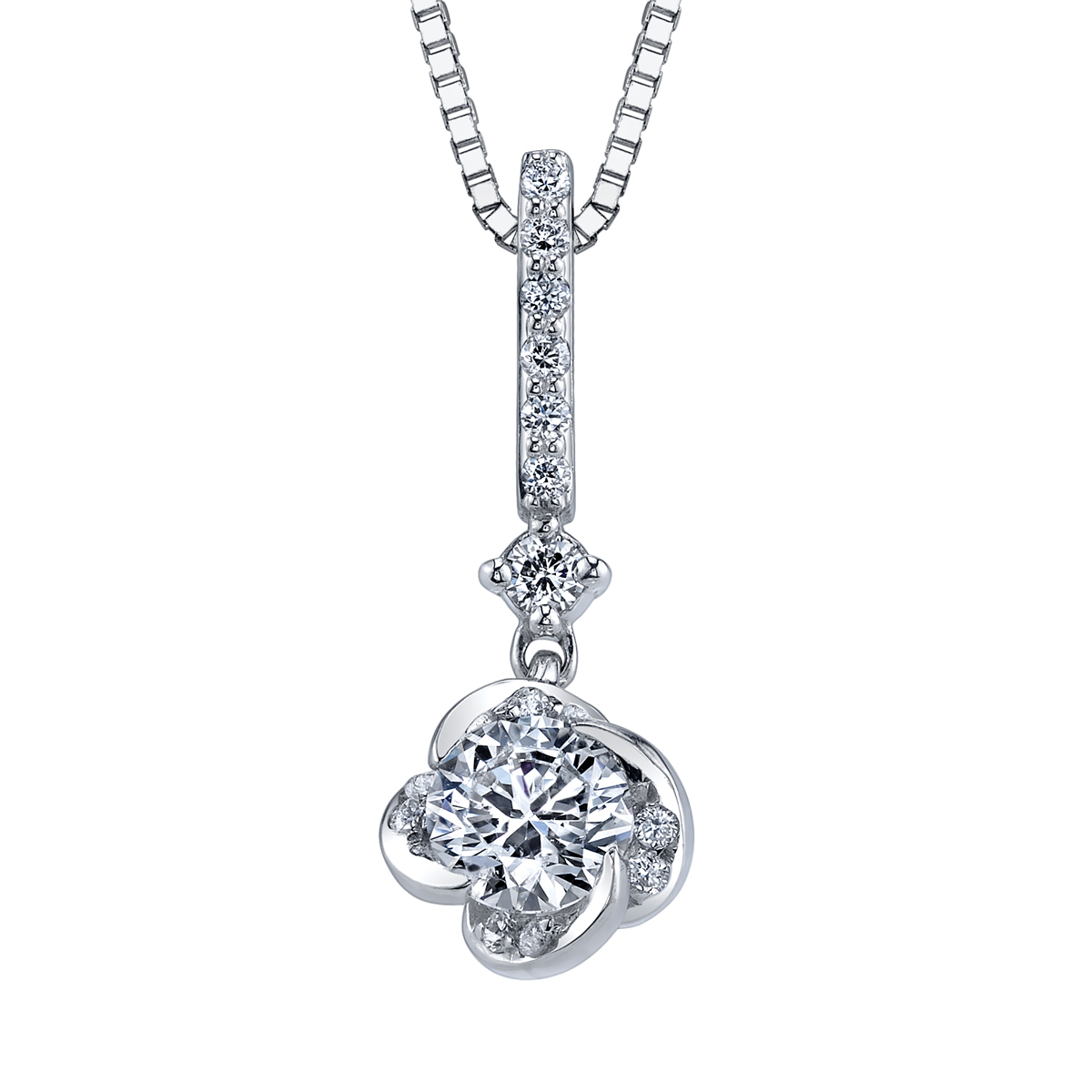 A & A Jewellery in Estevan: Maple Leaf Canadian Diamond Pendant from the Elements of love, Winds Embrace Collection