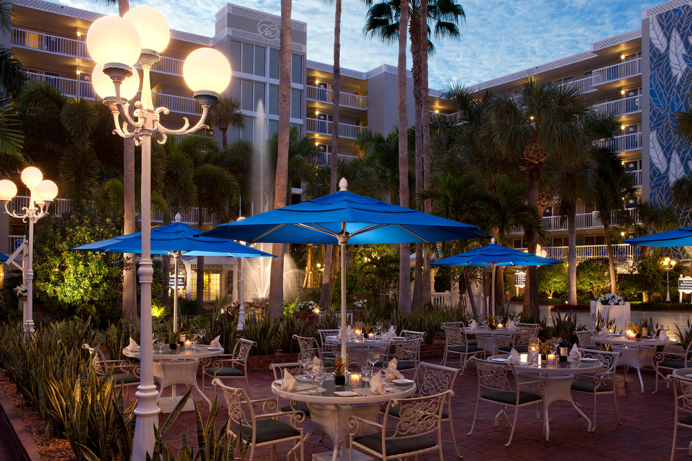 Enjoy terrace dining at Palm Court Italian Grill, rated the #1 restaurant on St. Pete Beach on TripAdvisor.