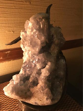 Enjoy beautiful crystals inside the Lexington massage studio.